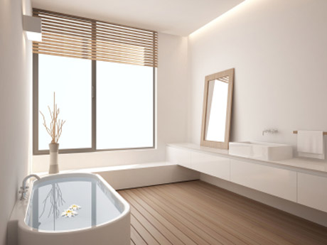 אמבטיה מקוריאן משולבת עץ
