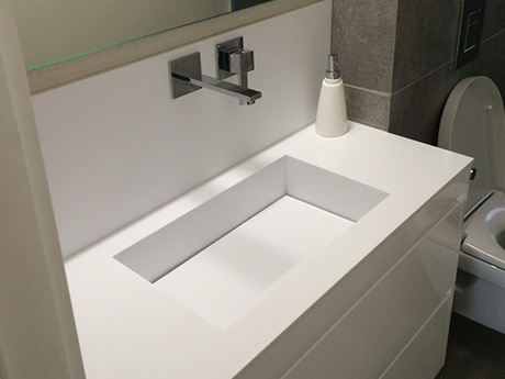 כיור קוריאן אמבטיה לבן